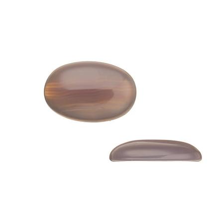 Oval Dome Semi Precious Cabochon Stones Grey Agate 20X30mm Beading Supply