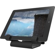 "Universal Security Tablet Holder Black - With Security Cable Lock and Plate - 1"" x 5""0.2"" - Aluminum - Black"
