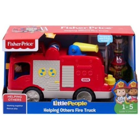Fisher-Price Little People, Helping Others Fire Truck, Press the driver's seat for sounds, songs & phrases! By FisherPrice