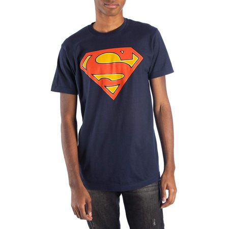 Big Men's Navy DC Comics Glow-in-the-Dark Superman Logo Short Sleeve Tee for $<!---->