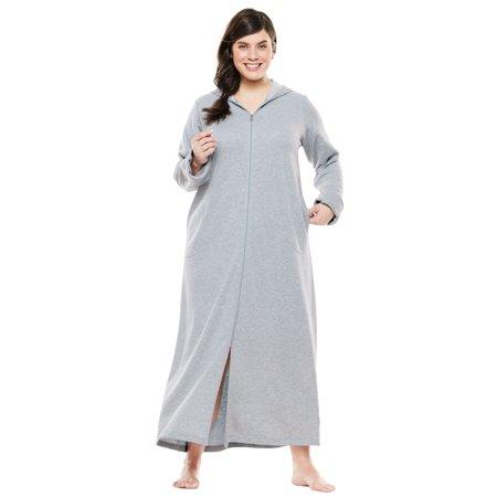 Plus Size Petite Hooded Fleece Robe By Dreams & Co.
