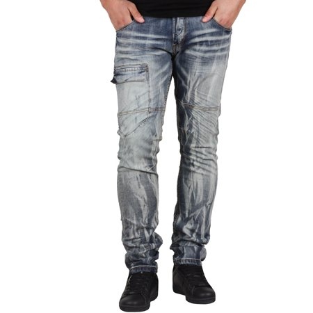 Front Snap Pockets (Royal Seven Skinny Fit Jeans with Front Snap Cargo Pocket)
