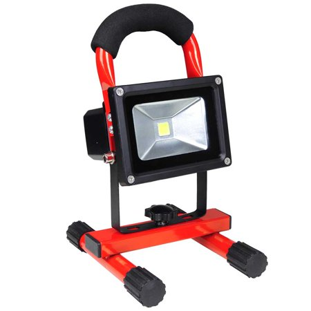 Yescom 10W Rechargeable LED Flood Light, Portable Outdoor Work Light, 4400mAh Large Capacity Camping Security (Best Portable Flood Light)