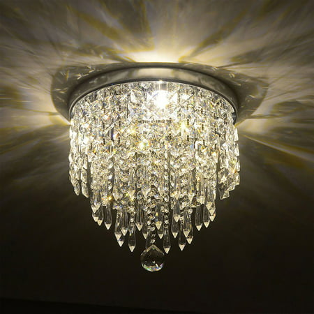 UL Listed 3-Light Crystal Chandelier Ceiling Fixture Pendant for Study Room, Dining Room, Bedroom, Living Room