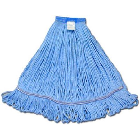 Abco Products 01311 Mop Head, Blue Looped End, Cotton Rayon, 22-24-oz.