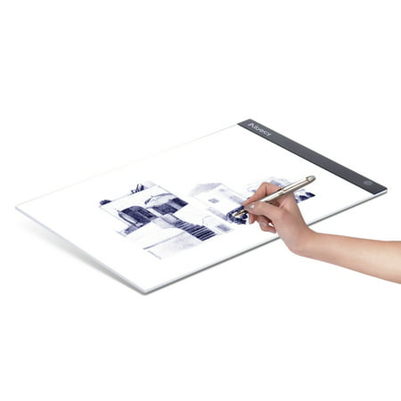 Aibecy Portable A3 LED Light Box Drawing Tracing Tracer Copy Board Table Pad Panel Copyboard with Memory Function Stepless Brightness Control for Artist Animation Tattoo Sketching Architecture Calligr - image 1 of 7