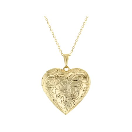 Stunning Textured Heart Photo Locket Pendant Necklace Love