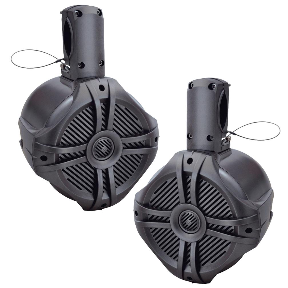 "Power Acoustik Marine 6.5"" Wake Tower Speaker Titanium (Pair)"