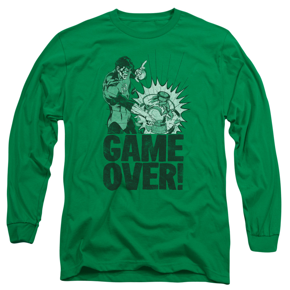 GREEN LANTERN/GAME OVER - L/S ADULT 18/1 - KELLY GREEN - MD