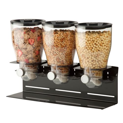 Honey-Can-Do KCH-06150 17-1/2 Oz Capacity Countertop Triple Food Dispenser with