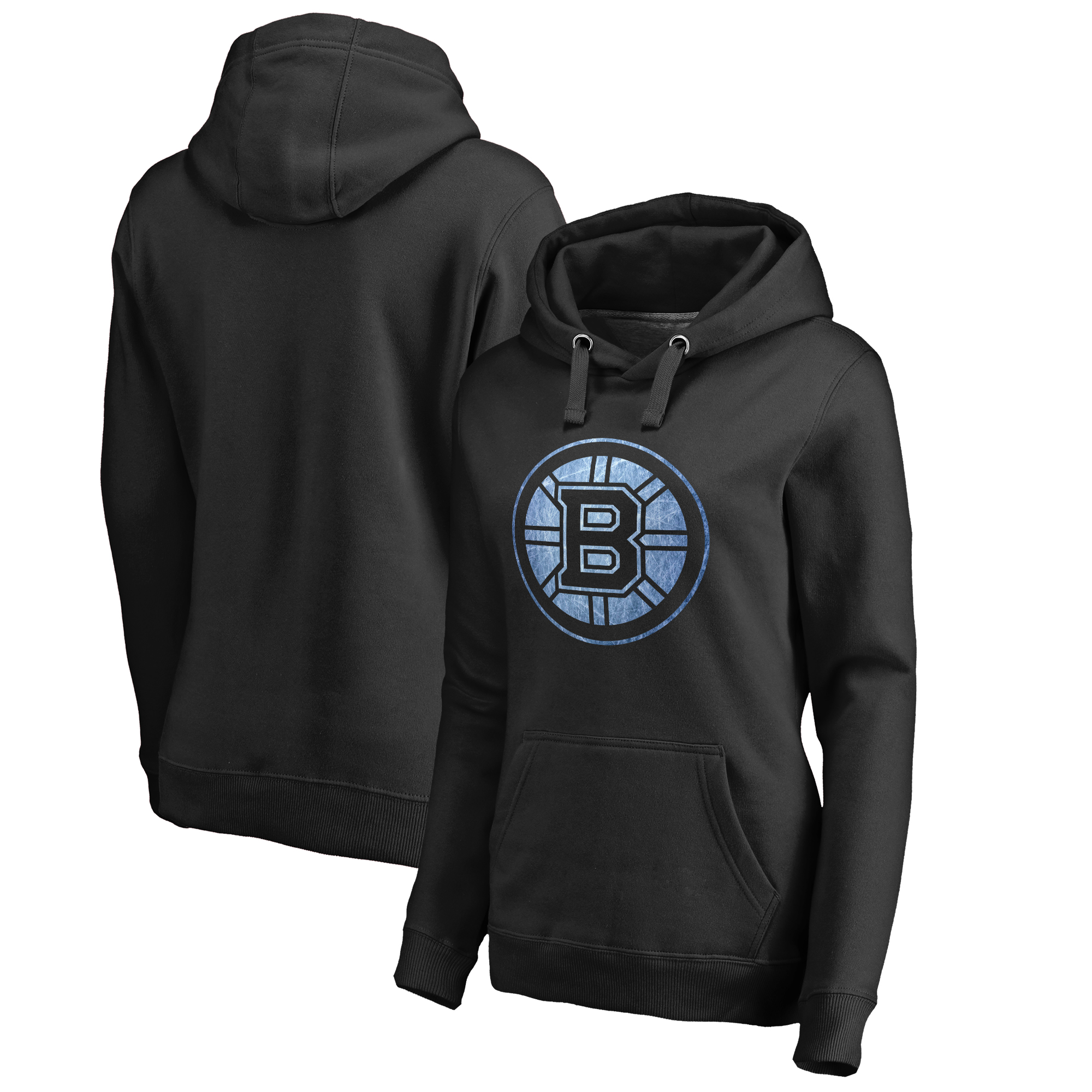 Boston Bruins Women's Pond Hockey Pullover Hoodie - Black