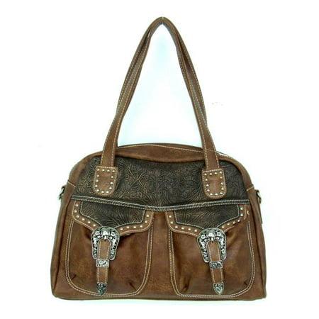Savana No.PK-868 TN Ladies Faux Leather Distressed Handbag, Tan