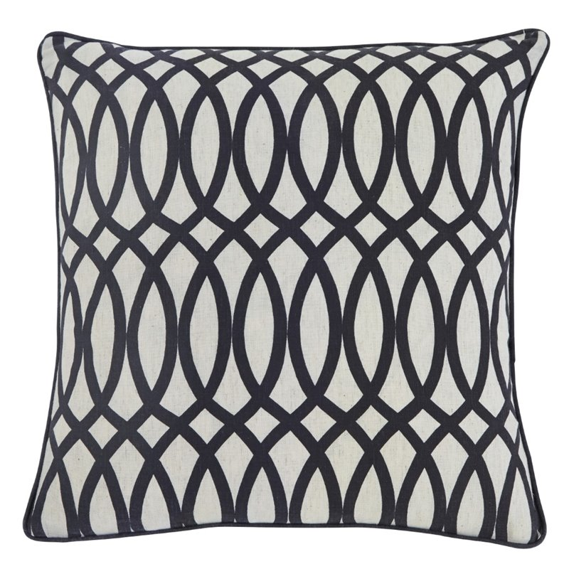 Ashley Gate Throw Pillow in Black (Set of 4) by Ashley Furniture