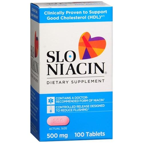 Slo-Niacin 500 mg Tablets 100 Tablets (Pack of 3)