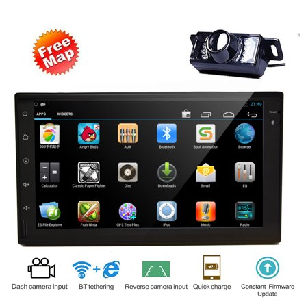 Free Backup Camera Included!7 Inch Octa-Core Android 7 1 System In Dash  Capacitive Touch Screen Car Stereo With Built-in GPS for Universal 2 Din  WIFI