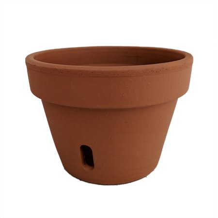 "Clay Orchid Pot - 7.5"" x 5 .5"" - Terra Cotta - Unglazed"