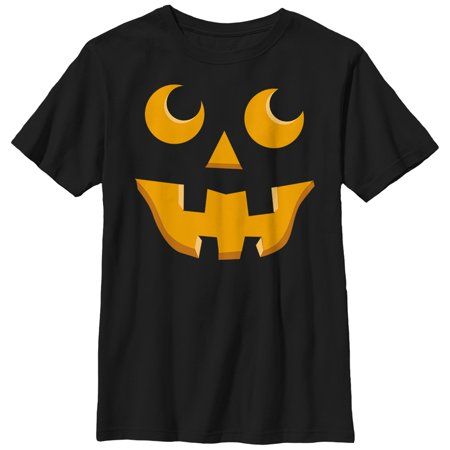 Boys' Halloween Jack-o'-Lantern Toothy Grin T-Shirt (Different Types Of Boys On Halloween)