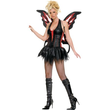 Sexy Womens Fairy Gothic Costume Small Medium Large