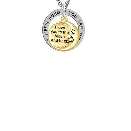 Gold Tone I Love You To The Moon And Back Lifes Poem Affirmation
