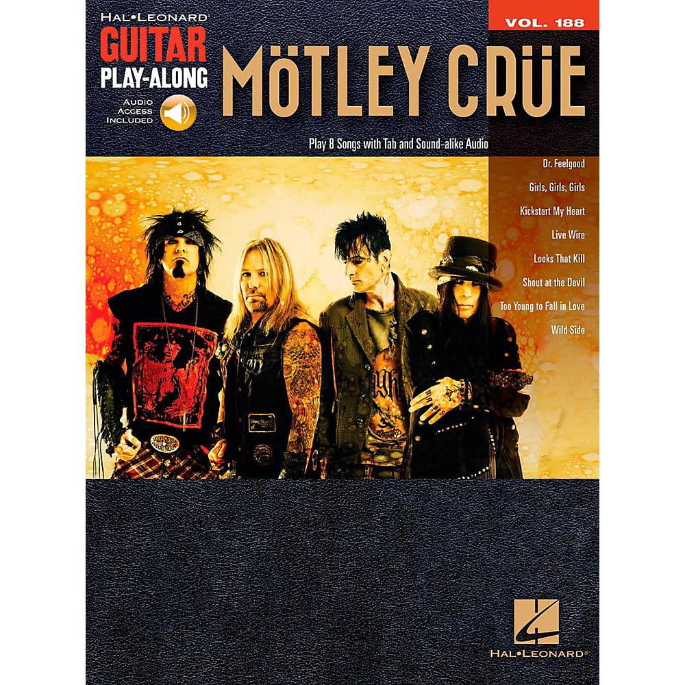 Hal Leonard Motley Crue Guitar Play Along Vol 188 Book Online Audio Walmart Com Walmart Com
