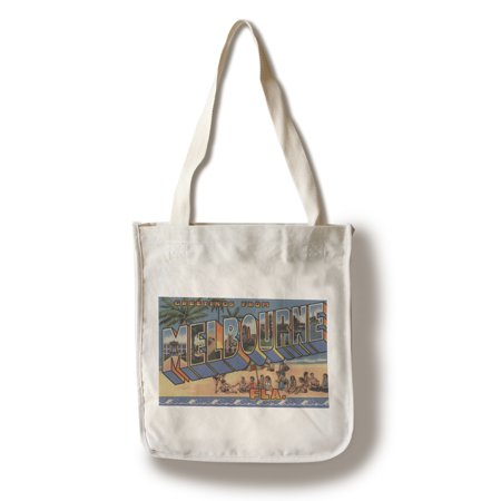 Melbourne, Florida - Large Letter Scenes (100% Cotton Tote Bag - (Kids Boutique Melbourne)