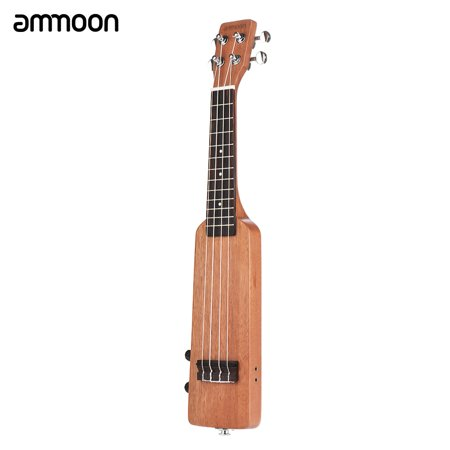 "Ammoon Creative Bottle Shape 21 ""Okoumé Électrique Bois Ukulélé Ukelele Uke Kit avec Tuner Sac de Transport 3.5mm Audio Câble 4pcs Extra Cordes 5pcs Celluloid Picks - image 1 of 7"