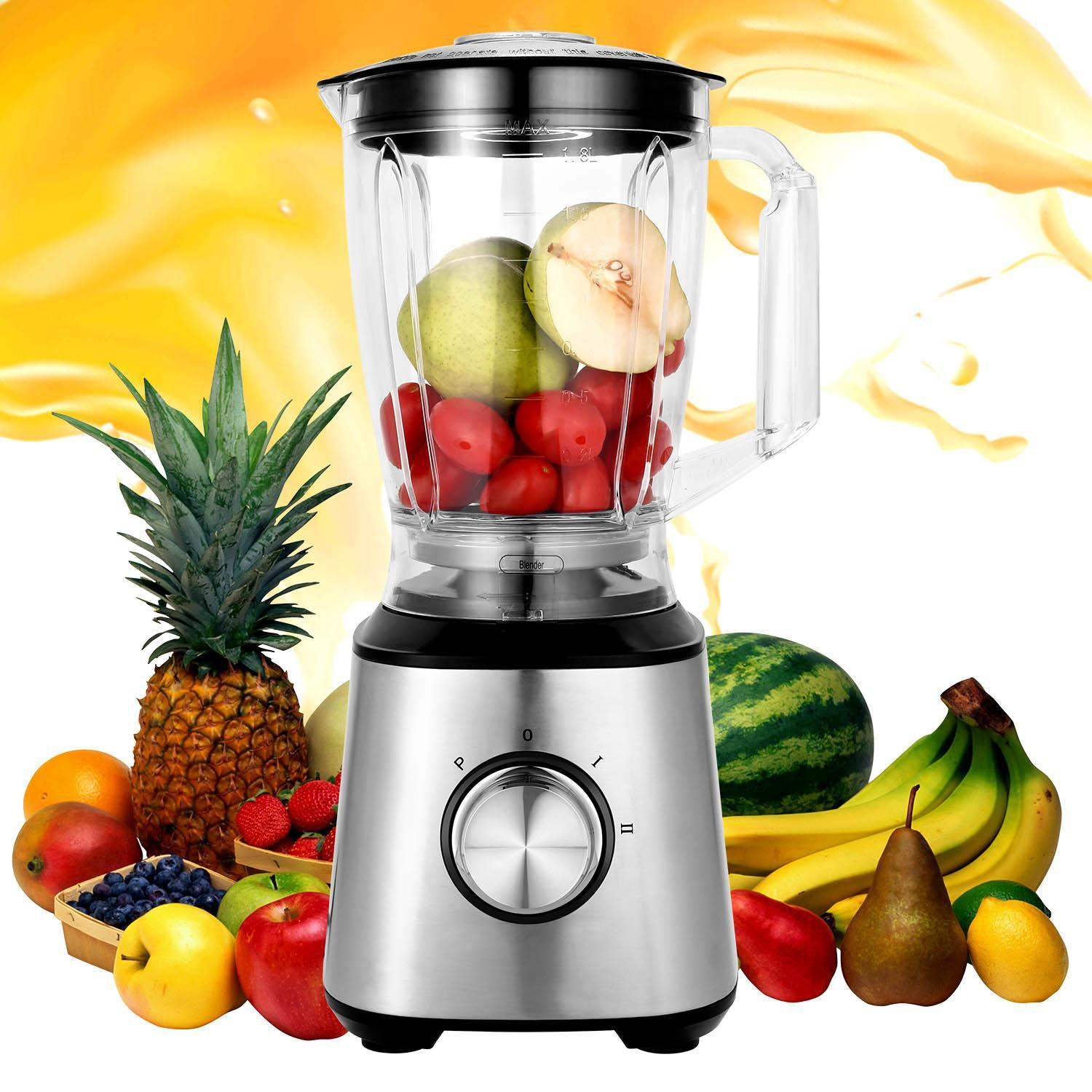 Professional Blender 800W High Speed Electric Total Nutrition Food Processors  for Ice Fruits Vegetables Smoothies Soups Mayonnaise, etc - (Commercial / Kitchen)