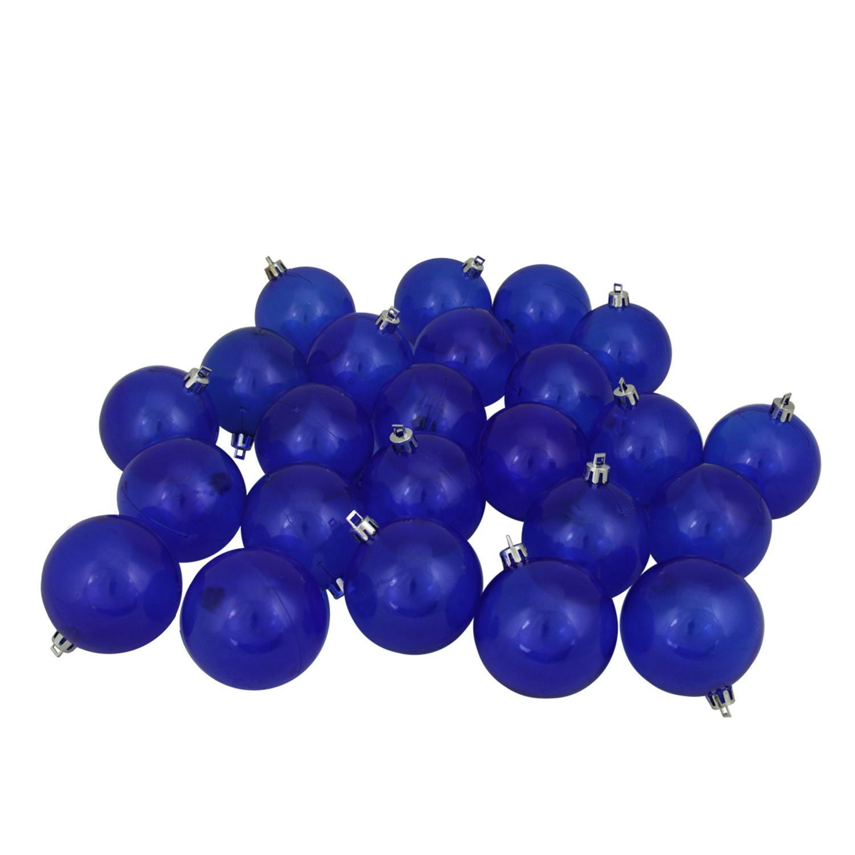 "24ct Blue Transparent Shatterproof Christmas Ball Ornaments 2.5"" (60mm)"