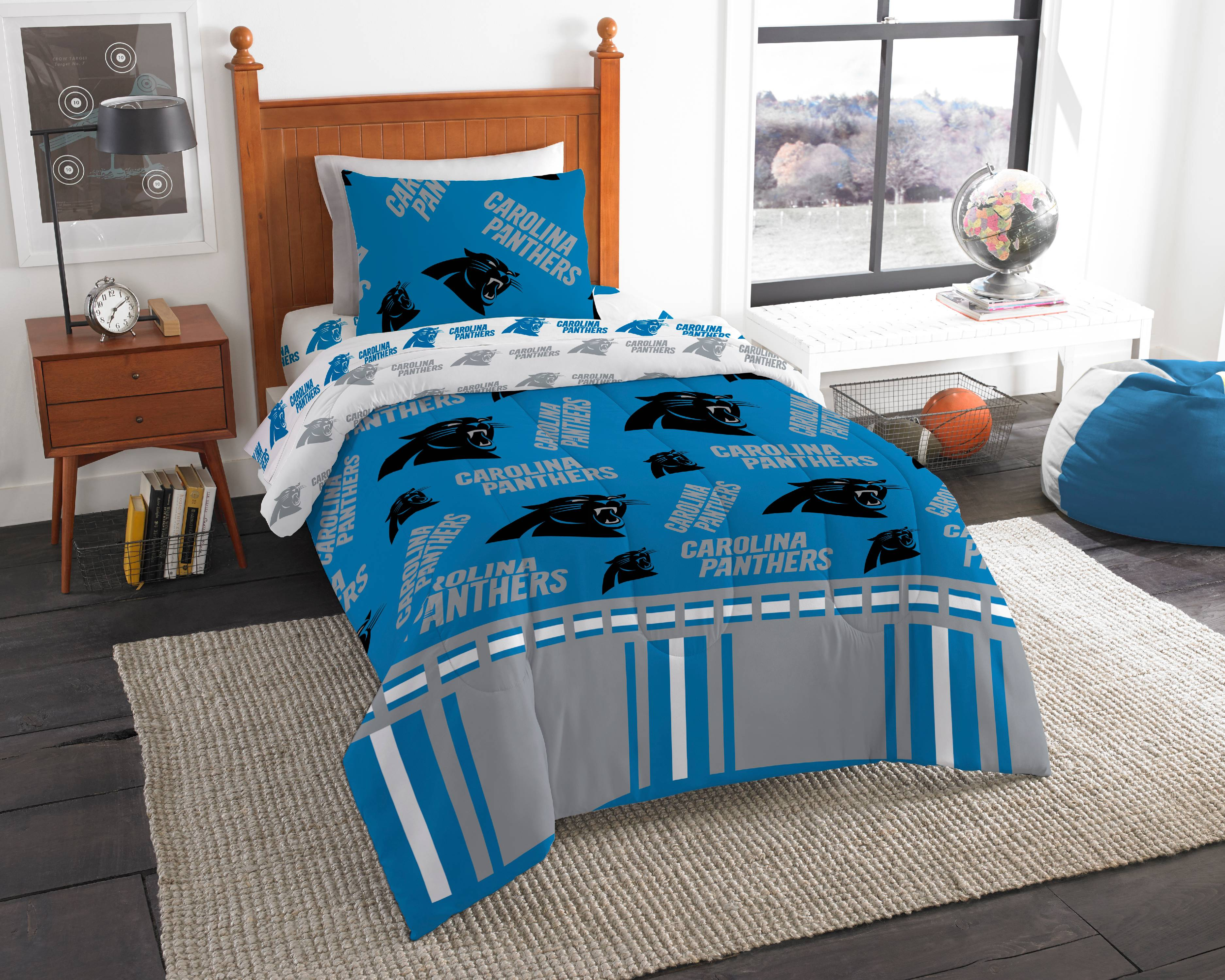 342b9e98 NFL Carolina Panthers Bed In Bag Set