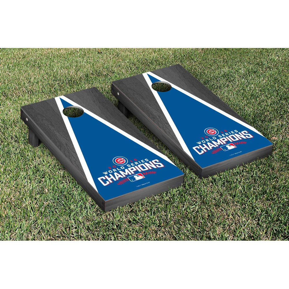 Chicago Cubs 2016 World Series Champions Onyx Stain Cornhole Game Set - No Size