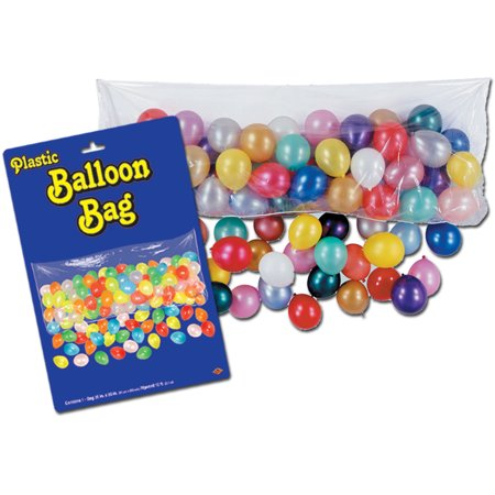 Pkgd Plastic Balloon Bag (bag only) Party Accessory  (1 count) (1/Pkg)](Balloon Bags)