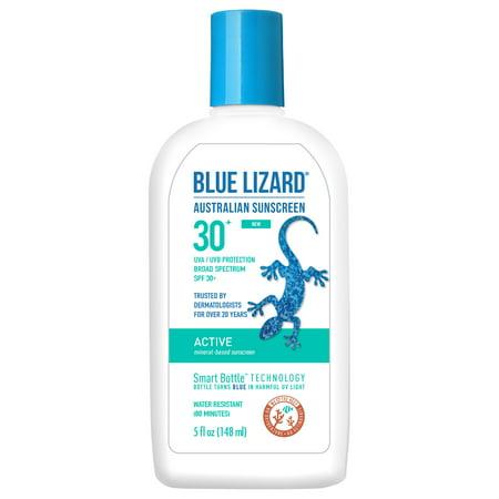 Blue Lizard Australian Sunscreen, Active, Broad Spectrum SPF 30+, 5