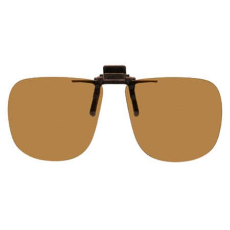 6deb29cd39cee Shade Control G-Clips - Polarized Clip-on Flip-up Plastic Sunglasses -  Square - 60mm Wide X 54mm High (136mm Wide) - Polarized Brown Lenses -  Walmart.com
