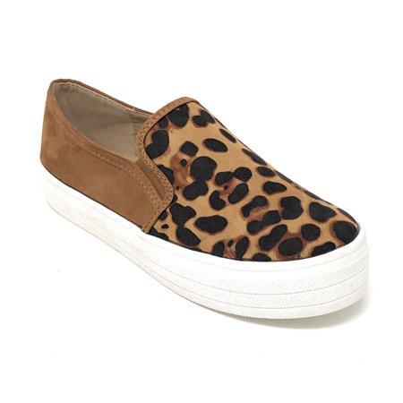 CCOCCI Women's Ellie Leopard Fashion Sneakers - Ellie Platform Shoes