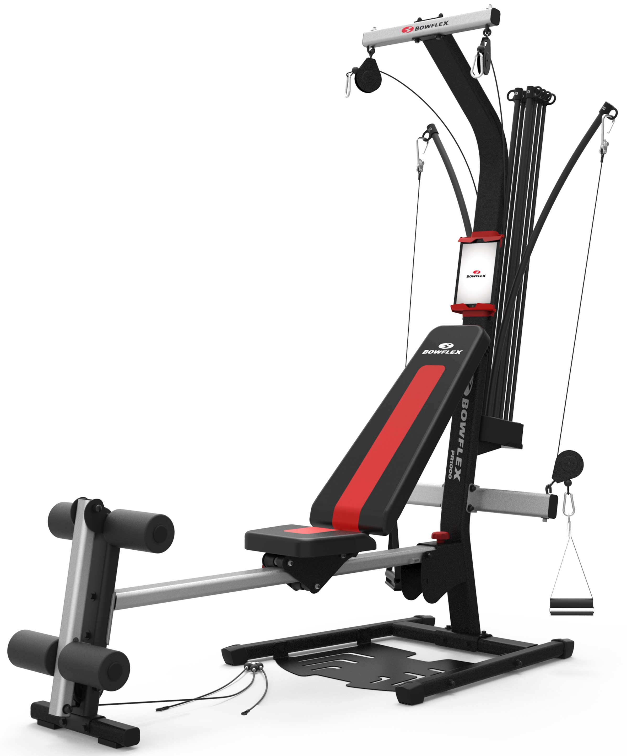 Bowflex pr1000 home gym with 25 exercises and 200 lbs. power rod