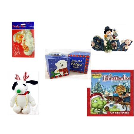 Holiday Fruitcake - Christmas Fun Gift Bundle [5 Piece] - Designware