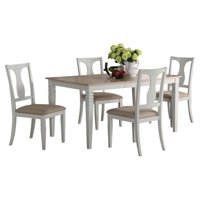 Eden Two-Toned Wood 7 Piece Dining Set