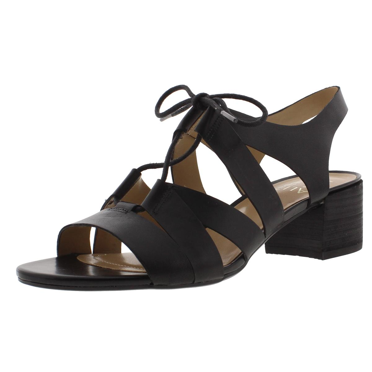 Naturalizer Womens Felicity Leather Stacked Heel Gladiator Sandals by Naturalizer