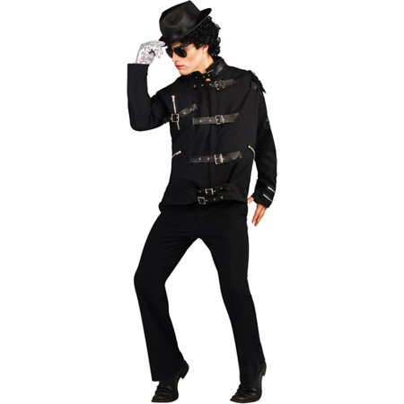 Michael Jackson Bad Black Buckle Jacket Deluxe Adult Halloween - Michael Jackson Halloween Costume Kids