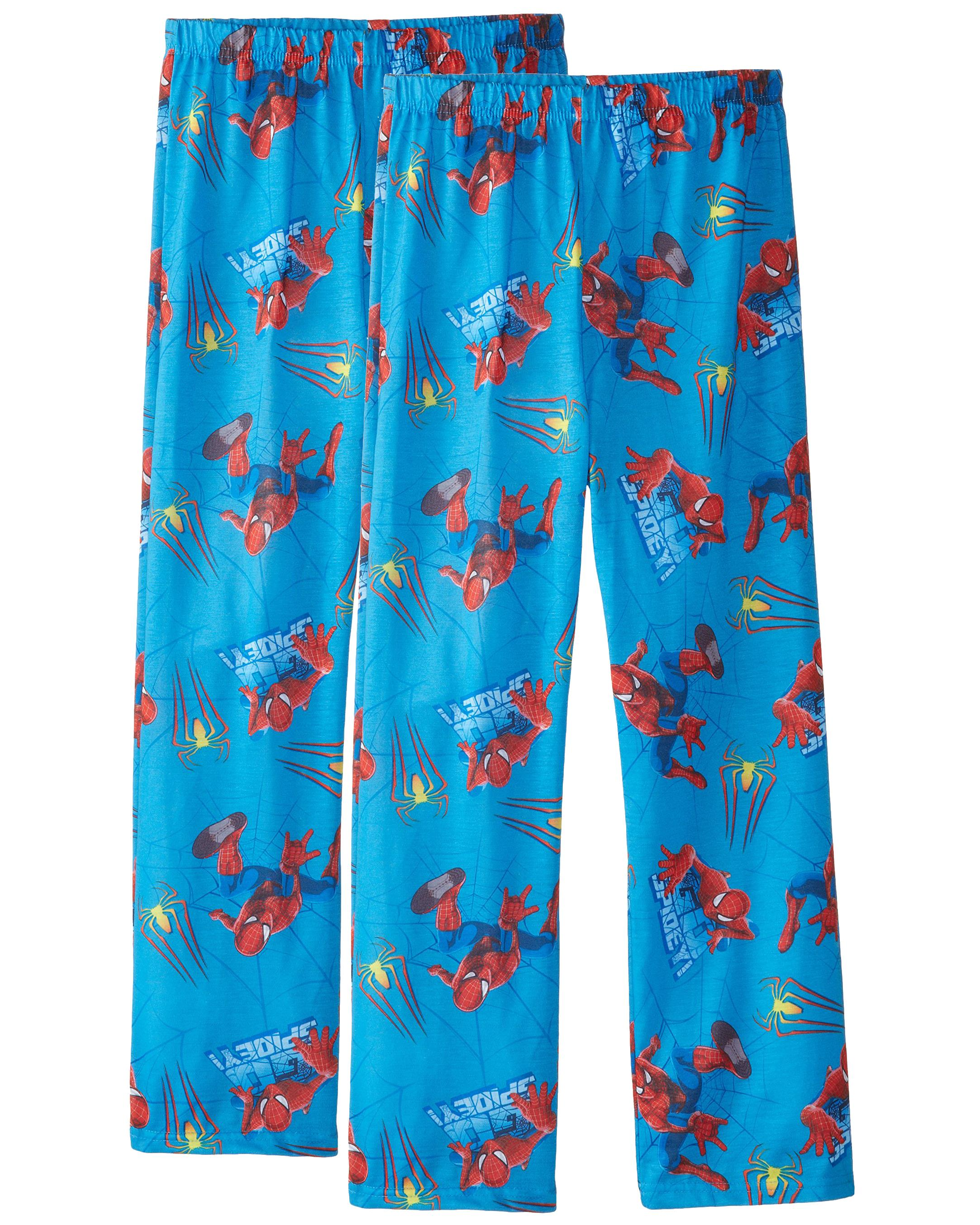 Spider-Man Boys Blue Pajama Pants, Sizes 4-10, 2 Pack, Size: Small / 4-5
