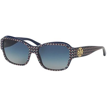9e2393480c0 Tory Burch - Tory Burch Women s TY7107 Sunglasses Blue Zig Zag Navy   Blue  Gradient 57mm - Walmart.com