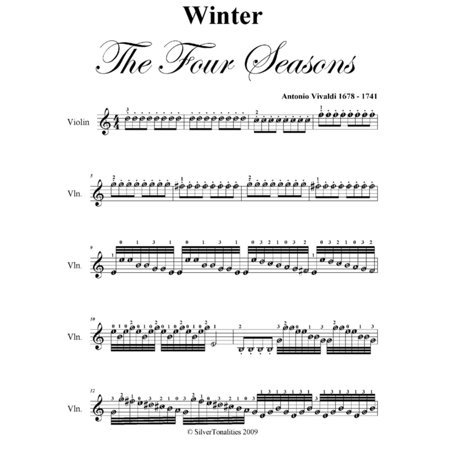 Winter Four Seasons Easy Violin Sheet Music PDF - eBook - This Is Halloween Sheet Music Pdf