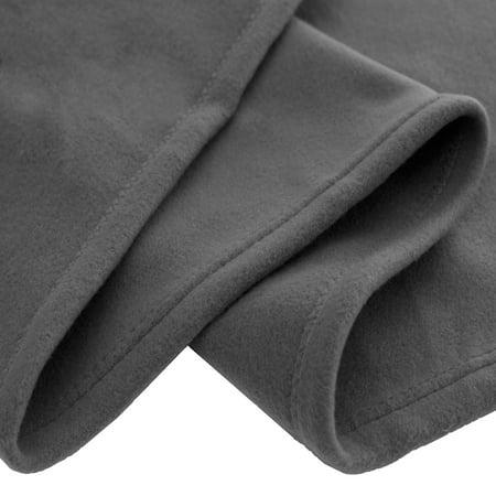 Polar Fleece Cozy Bed Blanket - Hypoallergenic Premium Poly-Fiber Yarns, Thermal, Lightweight Blanket (Full/Queen, Gray)