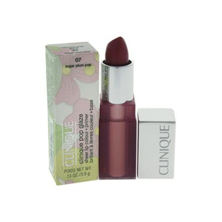 Plum Sheer Lipstick (Clinique Clinique Pop Glaze Sheer Lip Colour + Primer #07 Sugar Plum Pop 0.13 oz)