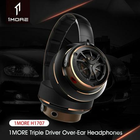Xiaomi 1MORE Triple Driver Over Ear Headphones Hi-Res Audio Bass Headband Earphones 3.5mm Travel Bass Headset with Mic
