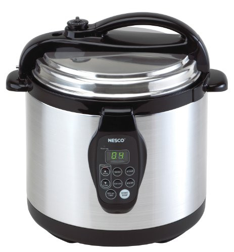 Nesco PC6-25 Digital Pressure Cooker Stainless Steel 6-Quart Black/Silver