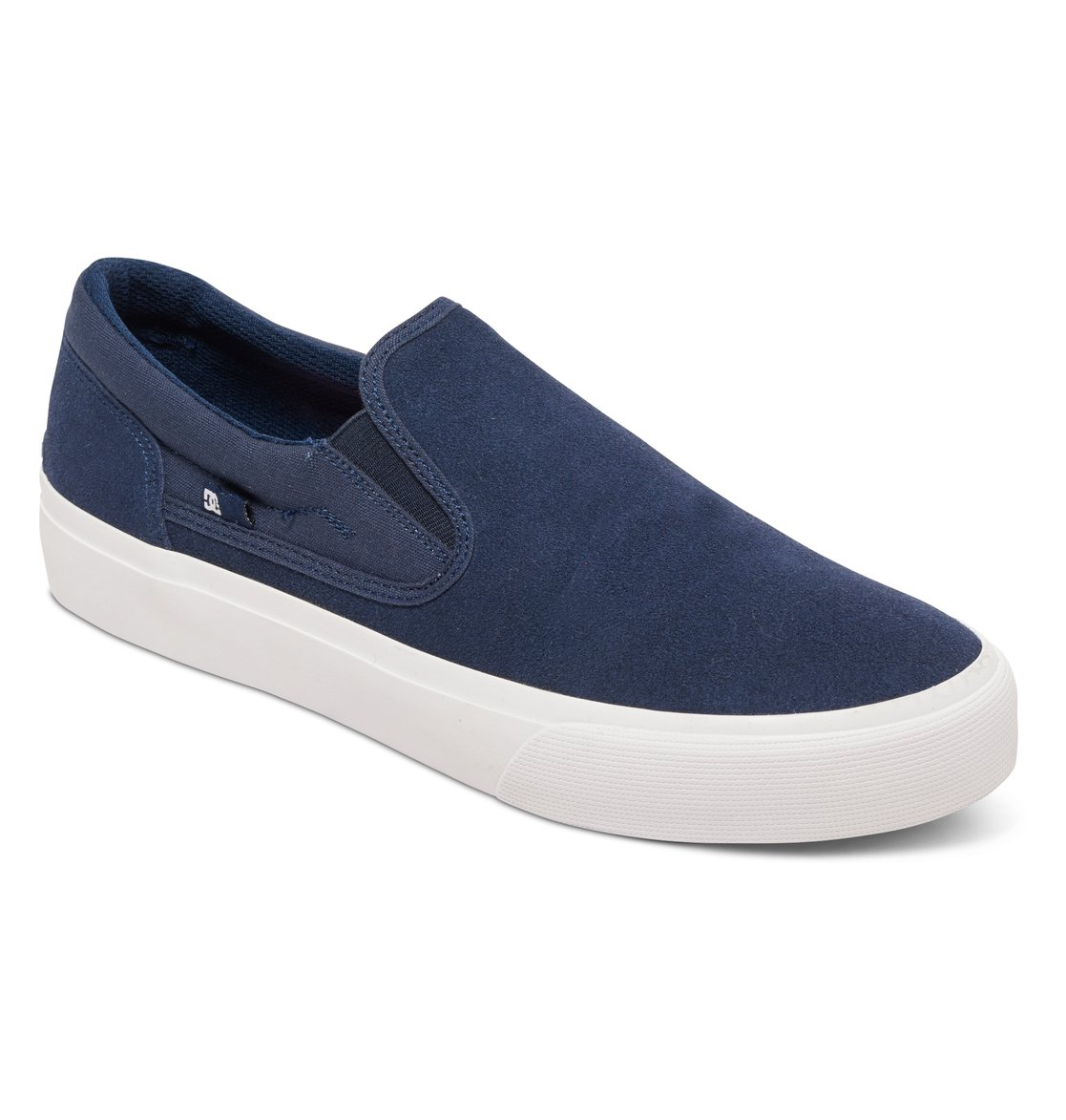 DC Men's Trase SD Slip-On Sneakers Blue Leather Suede 4.5 D