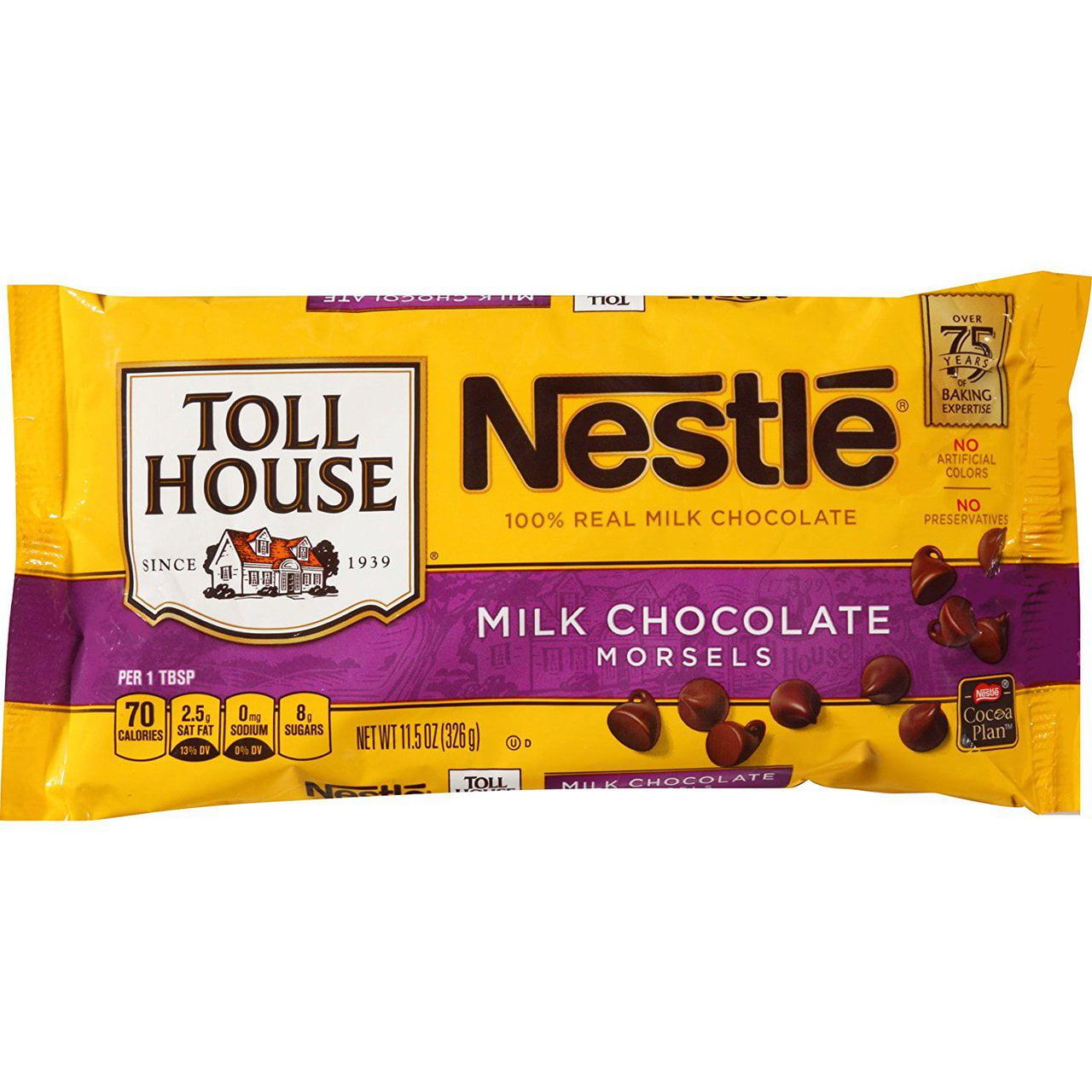 12 PACKS : Nestle TOLL HOUSE Milk Chocolate Morsels 11.5 oz. Bag