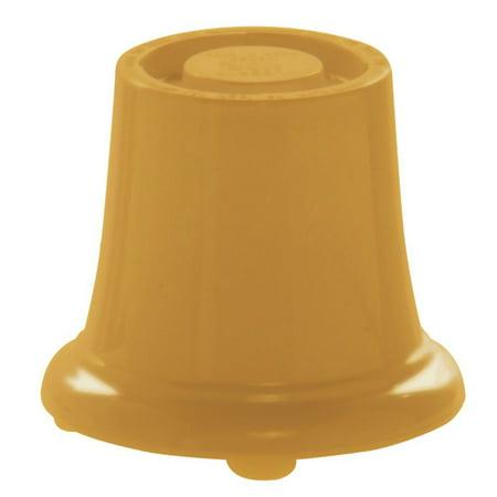 - HUBERT Pedestal Large Mustard Yellow Melamine- 5 1/2