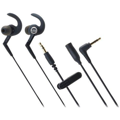 Audio Technica ATH-CKP500BK Active Fit In-ear Headphone Accs Ipx5 Waterproof Rating Black